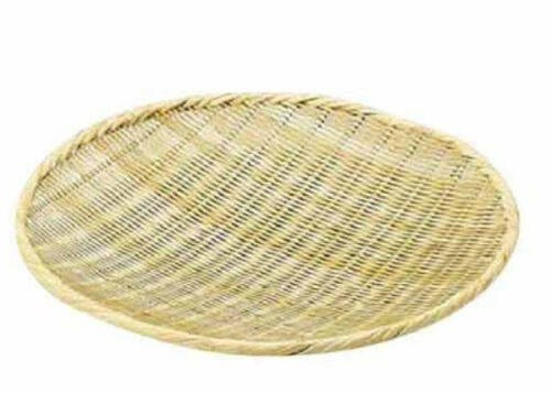 Japanese weave Strainer Drying Sado weaved bamboo tray Bamboo Basket weave