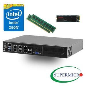 Details about Supermicro SYS-E300-8D Intel Xeon D-1518, Dual 10GB LAN  Server w/ 8GB, 256GB SSD