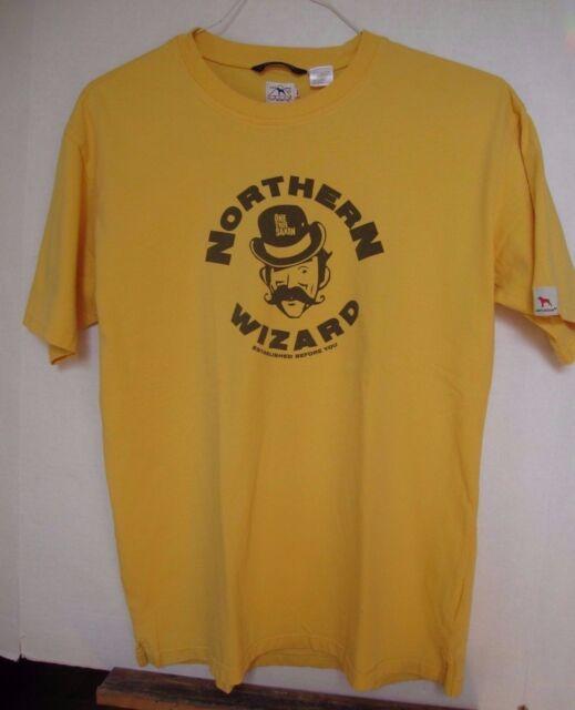 One True Saxon Northern Wizard Mens Yellow T-Shirt, Englands Finest, L