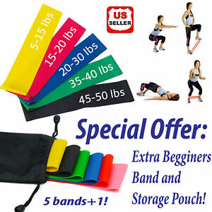 Resistance-Bands-Loop-Set-of-6-Exercise-Workout-CrossFit-Fitness-Yoga-Booty-Band