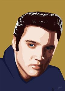 Elvis Presley - King Elvis - Original (signed) art print - Jarod Art