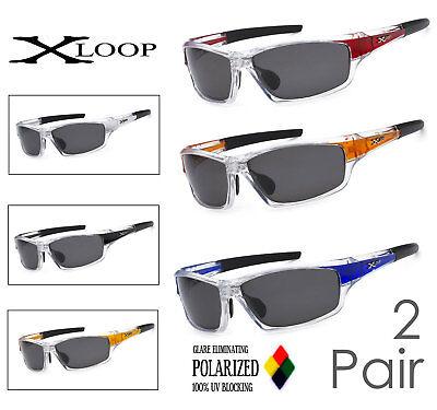 2 Paia Combinazione X-loop Lenti Polarizzate Sport Ciclismo Pesca Corsa