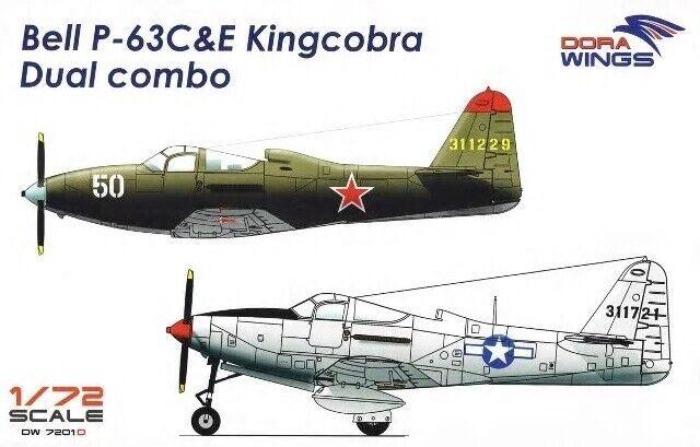 Dora Wings 7201D 1 72nd scale Bell P-63C & E KingCobra Dual Combo 2 kits 1 box