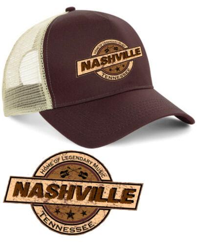 Hell Motors Nashville Trucker Cap v8 Oldschool Baseball Cappuccio Hot Rod Marrone Biker