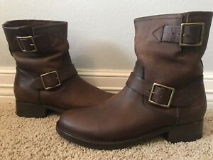 New-FRYE-Women-039-s-Vicky-Engineer-Brown-Leather-Boots-Sz-7-Retail-348