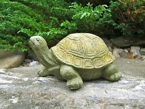 Charmant Image Is Loading Turtle Stretching Statue Painted Concrete Garden  Figure Cement