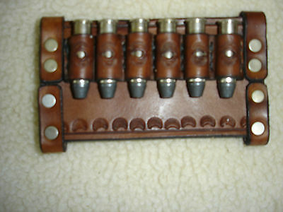Sporting Goods Intelligent Sass Leather Bullet Loops Slide Carrier 38/357 Brown Gun Storage 24 Days To Get It Done
