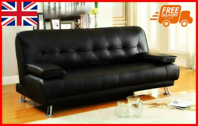 Faux Leather 3 Seater Recliner Sofa Bed