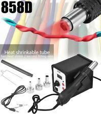 858 Smd Electric Rework Soldering Station Iron Kit W Hot Air Gun Led Light 110v