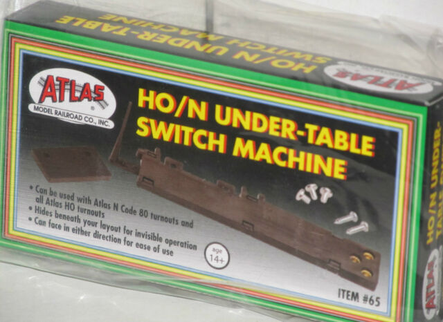 Atlas HO/N Under Table Switch Machine NEW 65