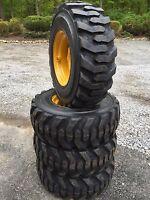 4 10-16.5 Tires Rims/wheels For John Deere 6675, 7775, 240, 315, 317-10x16.5