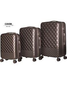 Trolley Set 3 Valigie Da Viaggio Rigida ABS Coveri Moving