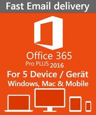 Microsoft Office 365 PRO PLUS KONTO für 5 PC/ MAC/ Mobile, 1TB OneDrive LIFETIME
