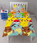 Pokemon Catch Reversible Single Duvet Cover Bed Set