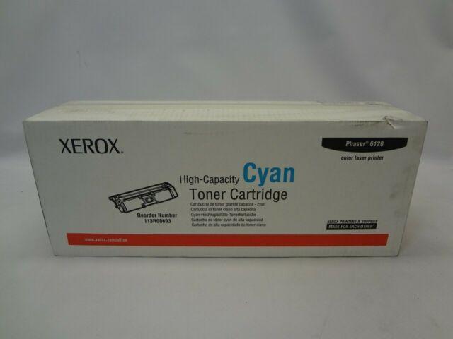 Xerox 113R00693 High Capacity Cyan Toner Cartridge *Damaged Box New Unused*