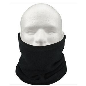 Sciarpa-scaldacollo-cappello-di-vello-unisex-termica-Sci-Snowboard-Nero-HK