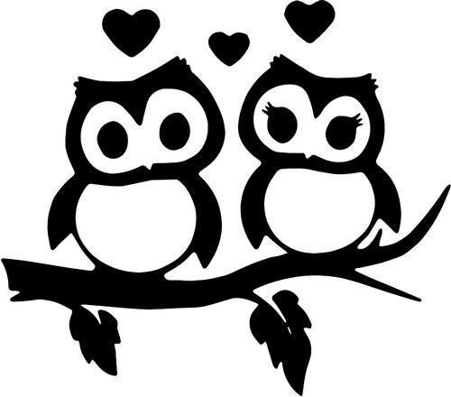Owl Couple Love Home Decor Car Truck Window Decal Sticker