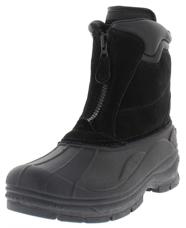 Weatherproof Trek Cremallera Impermeable botas de nieve para hombres   Thermolite, Gamuza..