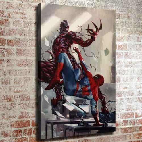 """16/""""x24/""""Carnage vs Spiderman HD Canvas prints Painting Home decor Room Wall art"""