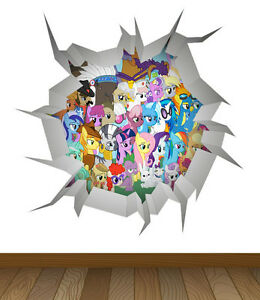Image Is Loading My Little Pony WALL CRACK Wall Art Vinyl