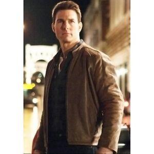 Jack Reacher Tom Cruise Brown Leather Jacket | eBay