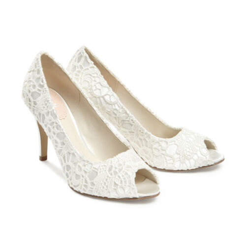 Pink by Paradox Wedding Shoes Cosmos Ivory Lace Court High Heel