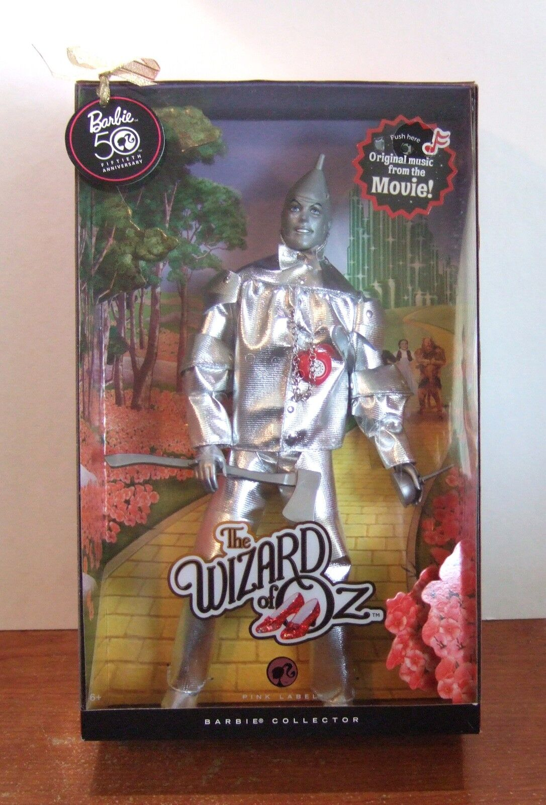 2008 Barbie Mago di oz Tin Man Ken 50th Anniversario Disegna  Z13