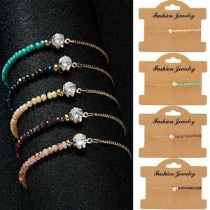 Fashion-Women-Crystal-Natural-Stone-Moonstone-Gemstone-Bracelet-Beaded-Bangle