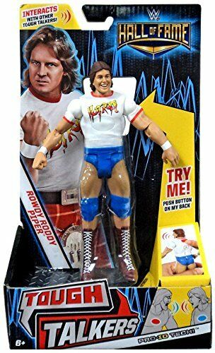 NEW WWE Hall of Fame ROWDY RODDY PIPER 7  Tough Talkers Action Figure PROID TECH