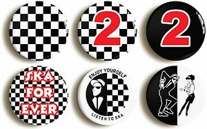SKA-BADGE-BUTTON-PIN-SET-1inch-25mm-diameter-1970s-SPECIALS-TWO-TONE-MADNESS