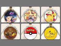 Pokeball Pokemon Photo Cabochon Glass Bronze/silver Chain Pendant Necklace