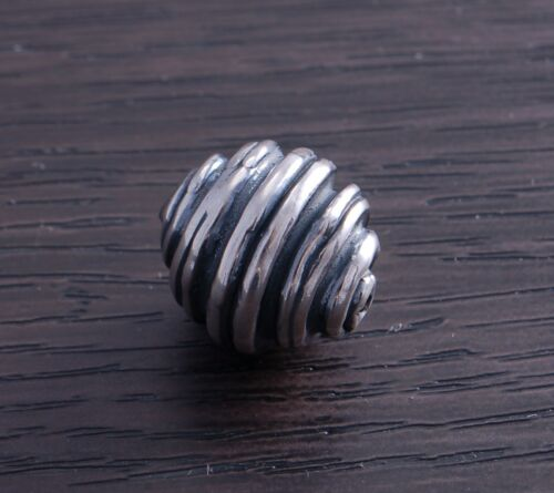 Sterling Silver Artistic Bead Swirl design 14mm DB4H sold individually