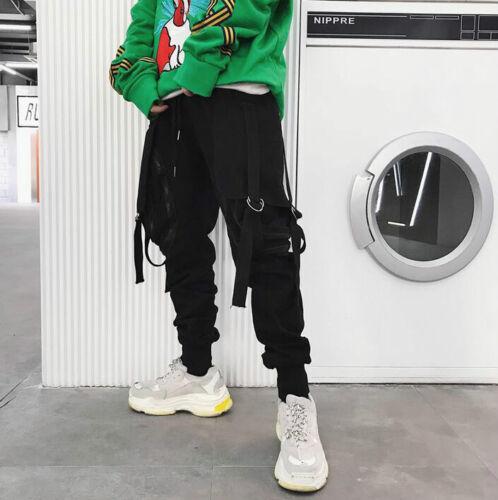 Mens Harem Pants Solid Color Loose Hip-hop Style Street Dance Casual Chic C738