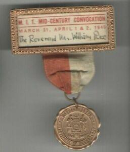 1949-M-I-T-Pin-Mid-Century-Einberufung-Abzeichen-Medaille-Pinback