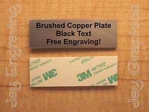 Custom Engraved 1x3 PlateAdhesive-BackedPersonalized Name Address Plaque