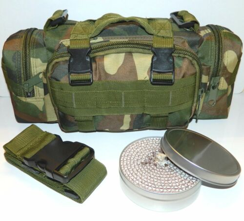 Molle Camo Outdoor Survival Camping Hiking Pack Pouch /& 2Hr SlipLid Buddy Burner