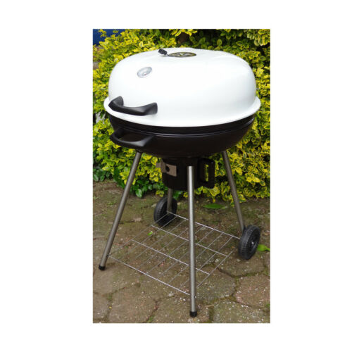 Kugelgrill Holzkohe Grill  BBQ  fahrbar mit Ø57 cm Grillfläche sehr Stabil