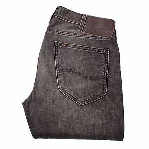 Lee-Blake-Straight-Fit-Grau-Herren-Jeans-Groesse-31-34