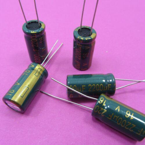 16V 2200uF chong condensateur électrolytique faible esr véritable de haute fréquence