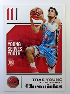 2018-18-19-Panini-Chronicles-Trae-Young-Rookie-RC-94-Atlanta-Hawks