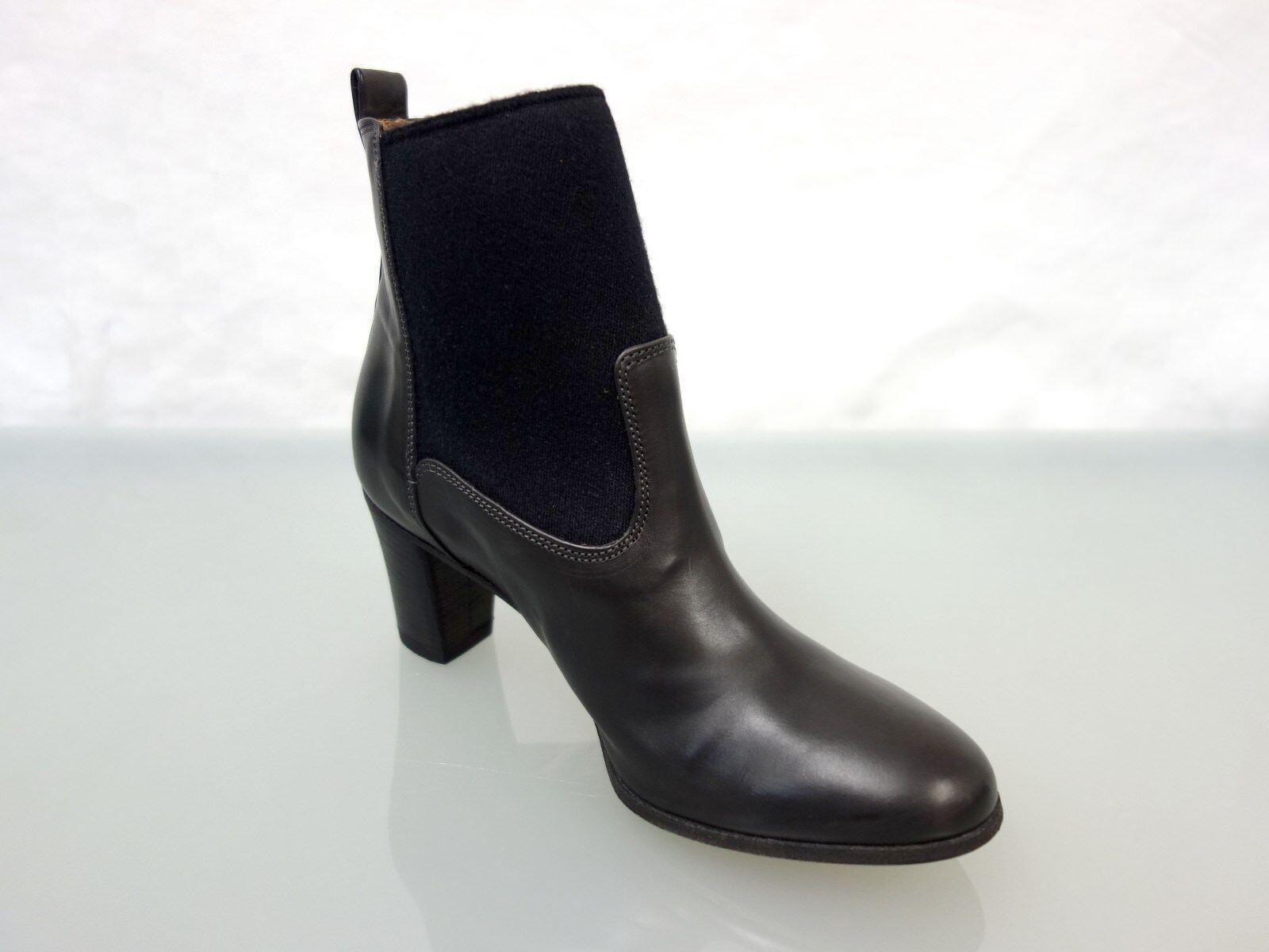 NEU Stiefelette ALBERTO FERMANI Leder Stiefel Stiefelette NEU Gr.36,5 Ankle Stiefel Schwarz 02117d