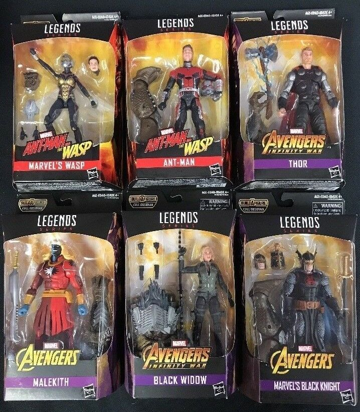 Marvel Legends Series Avengers Infinity War BAF Cull Obsidian Pack Set of 6 NEW