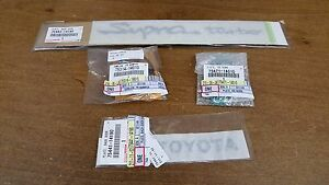 Toyota Supra Turbo 4 Piece Emblem Kit