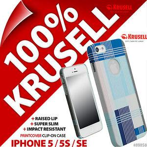 Krusell-Blu-Grafica-PrintCover-Custodia-Retro-Rigido-per-Apple-iPhone-5-5S-SE