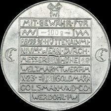 NOTGELD: 0,20 Goldmark 1923 - 100 Gramm Hüttenaluminium. WERDOHL / WESTFALEN.