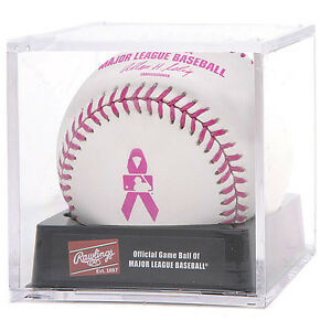 Official Rawlings MLB Baseball Game NIB Major League Mothers Day Pink in Cube
