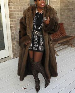 Sable Fur Coat >> Mint Full Length Swing Designer Blaustein Fisher Sable Fur Coat