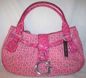 Pink Guess Satchel Signature Bag Logo Wassermelone Purse Primre New Handtasche Signs WqRU1XTqnI