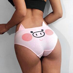 Cotton-Women-Cute-Briefs-Underwear-Cartoon-Printing-Shorts-Pink-Panties