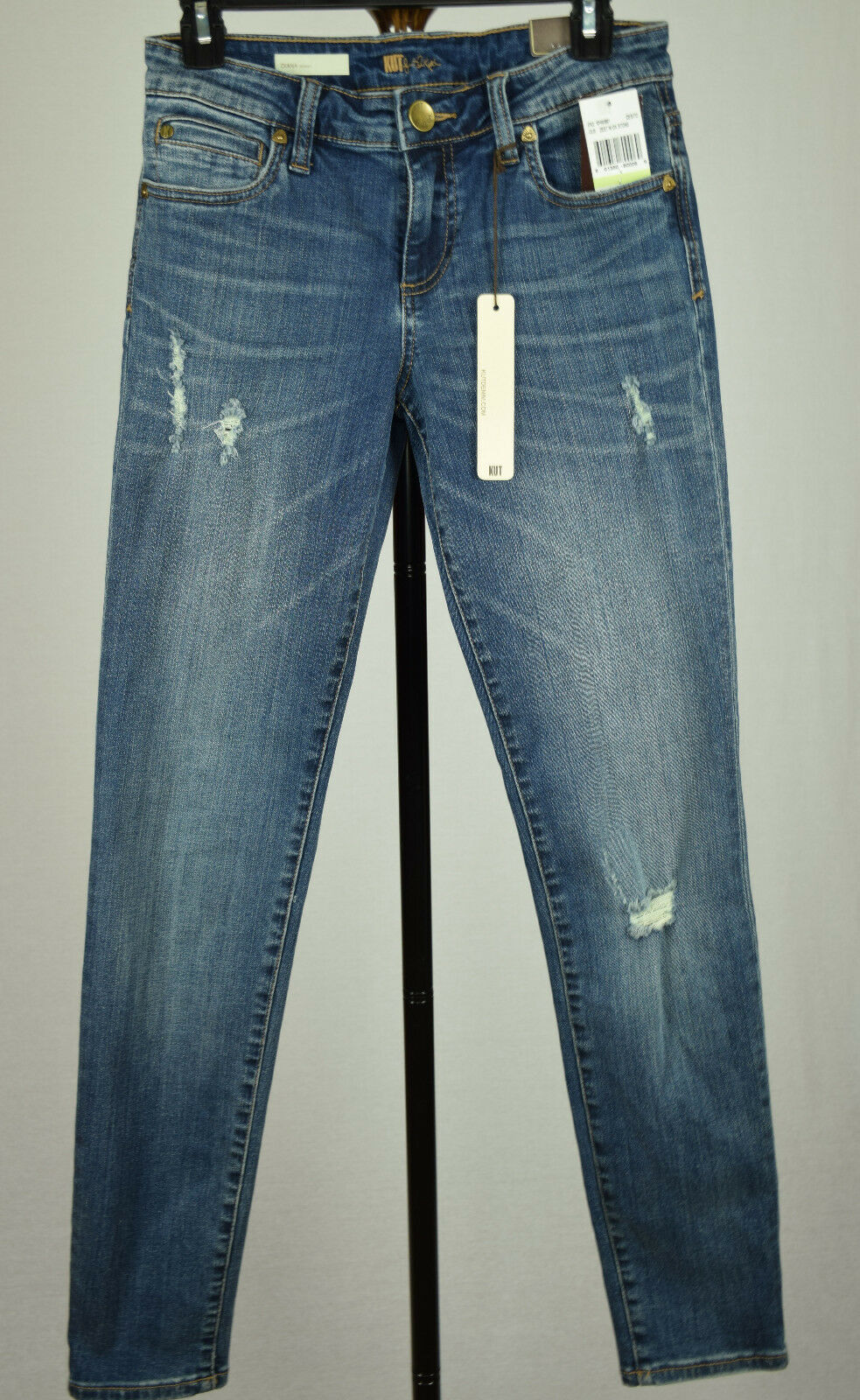 Kut From The Kloth Diana Damen Blau Zest Stretch Röhrenjeans 4